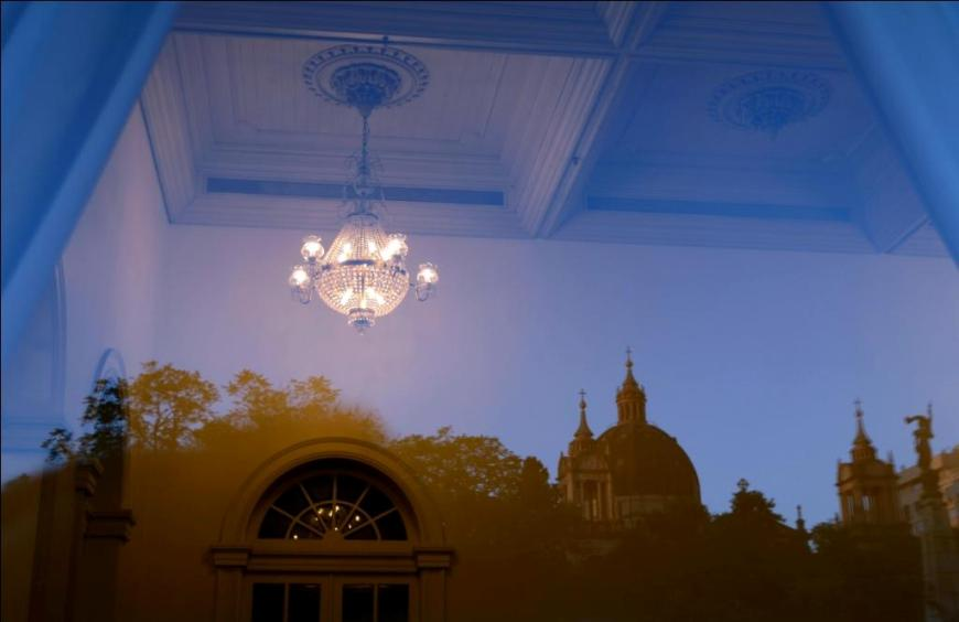 0504 Foyer do Teatro Sao Pedro - reflexos da Matriz e Catedral