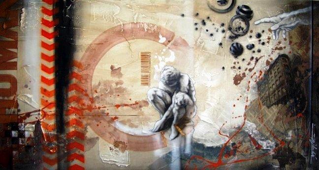 1_criação de um dna 80x150 cm (mista sobre tela) r$ 3.700
