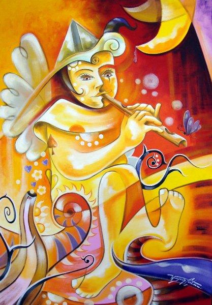 2_flautista 70x100cm  (óleo sobre tela) r$ 1.800