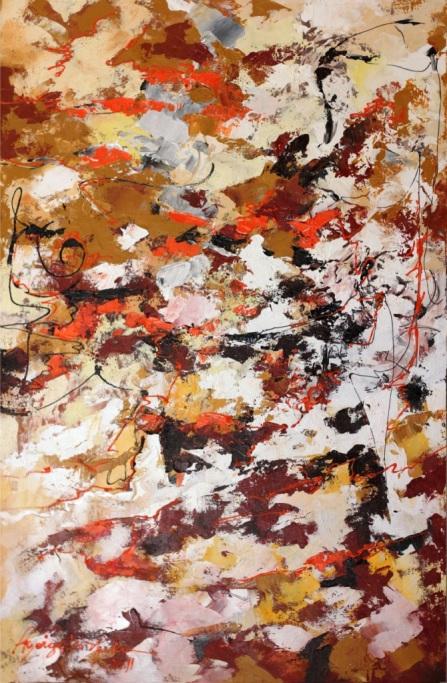 Abstrato Tamanho 1,10x70cm Técnica Óleo Espatulado sobre tela valor R$ 650.00