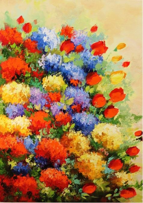 Jardim Técnica Óleo espatulado sobre tela Tamanho 1,10x70cm Valor R$ 780,00