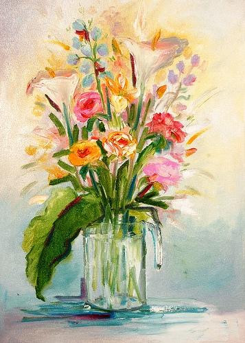 Flores I 50x70cm