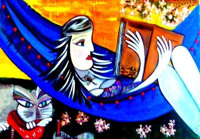 Além do Horizonte – 100 x 70 – acrílica sobre tela – Inédito na Exposição do Acervo Itinerante Carinhos D'Alma – Novembro2012