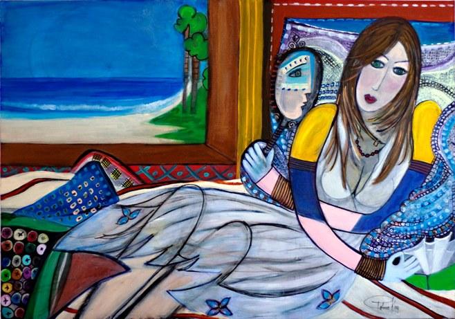Cissa – auto retrato Patrícia Krug 100x70 acril s tela jun2012