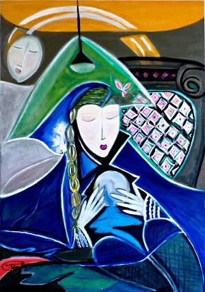 Intuição,100 x 70 cm – acrílica sobre tela – Abril de 2012