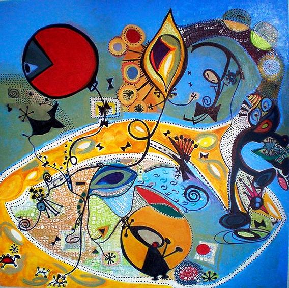 No Olho do Furacão 60x60 acril s tela jan2009