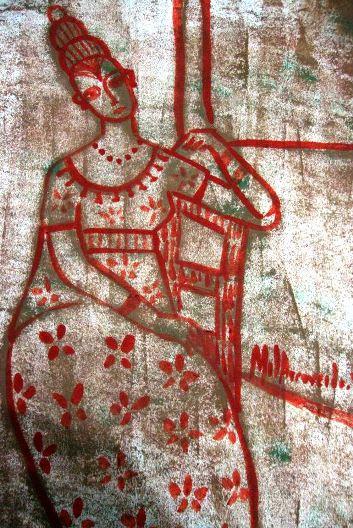 gravura 0612  guache e bico de pena sobre papel  21 x 30cm