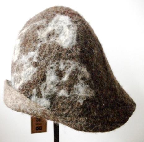 4. Chapéu estampa reversível feltragem lã natural