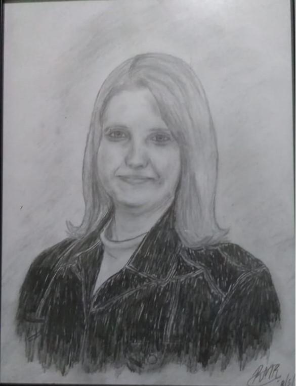 Retrato de minha mãe (2015) - Folha A3 - Lápis 6B