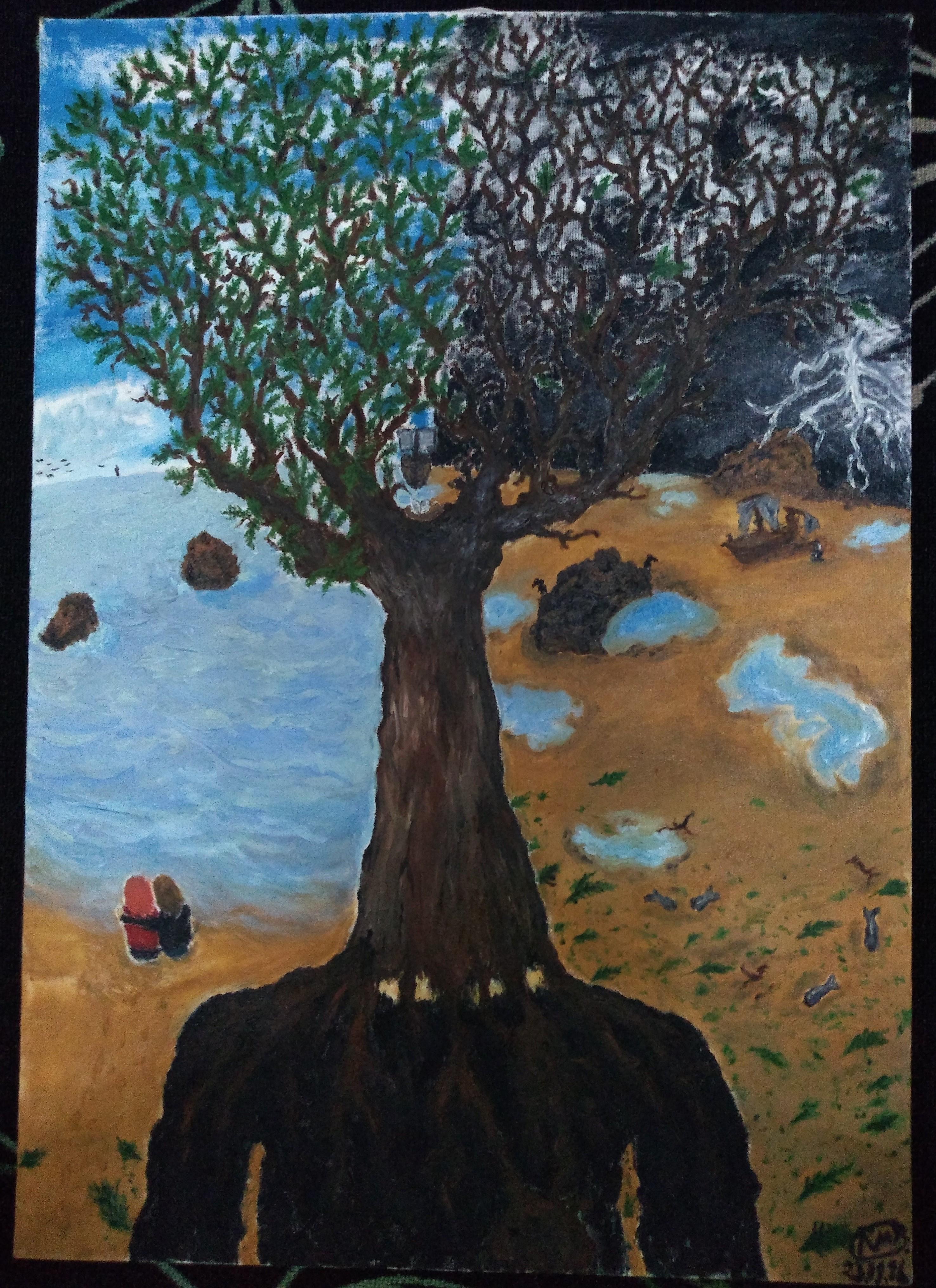 O tronco e seus pensamentos - 50X70 (2016) - Tinta óleo