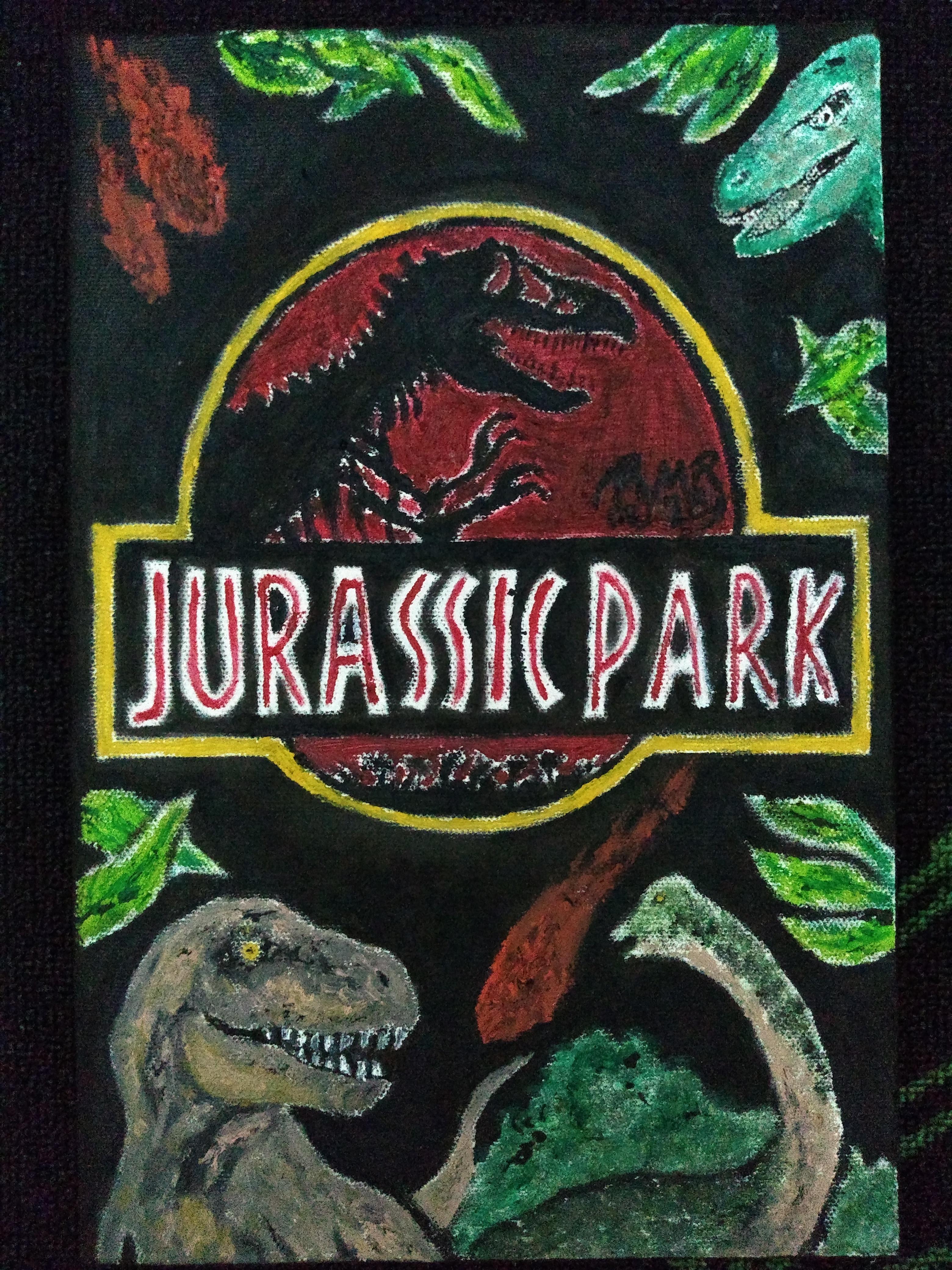 Jurassic Park - 20x30 (2018) - Tinta óleo