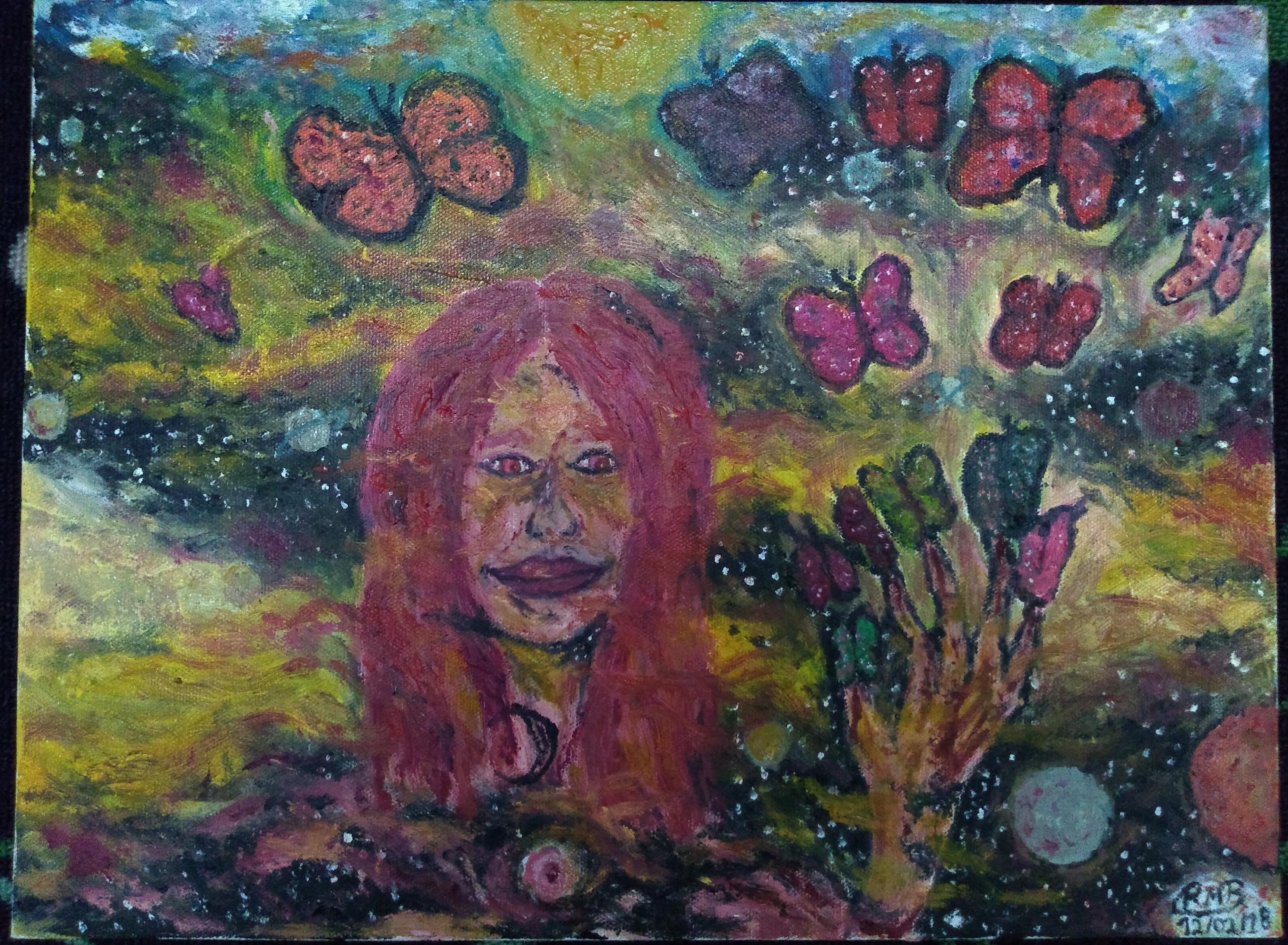O legado da deusa Brígida deixado a sua filha - 20x30 (2018) - Tinta óleo