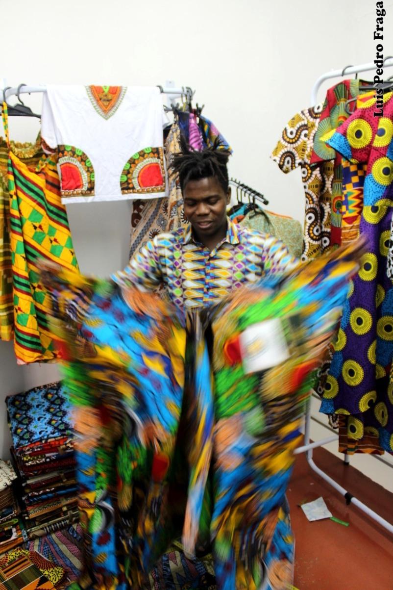 Loua, da Costa do Marfim, proprietário da Sankofa Butik
