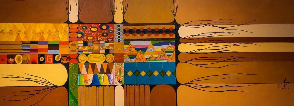 Desconstruindo Klimt 160x60cm
