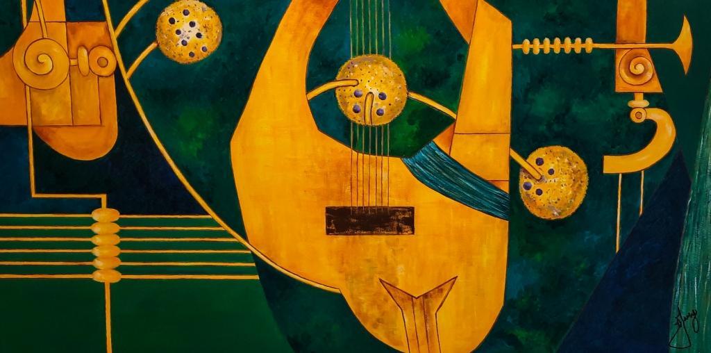 Sinfonia - Releitura Klimt 100x50cm